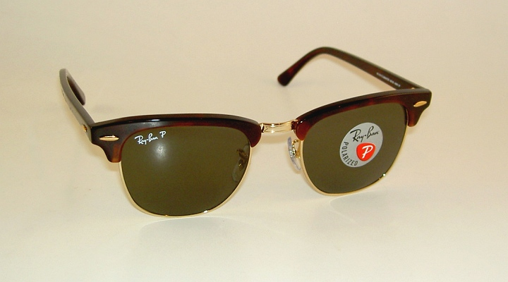 tortoise ray ban clubmaster  New RAY BAN Sunglasses CLUBMASTER Tortoise Frame RB 3016 990/58 ...