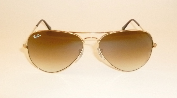 New RAY BAN Aviator Sunglasses Gold Frame RB 3025 001/51 Gradient