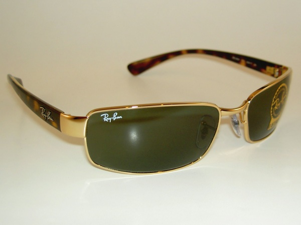Gold Frame Ray Ban Sunglasses : New Ray Ban Sunglasses Gold Frame RB 3364 001 G 15 Glass ...