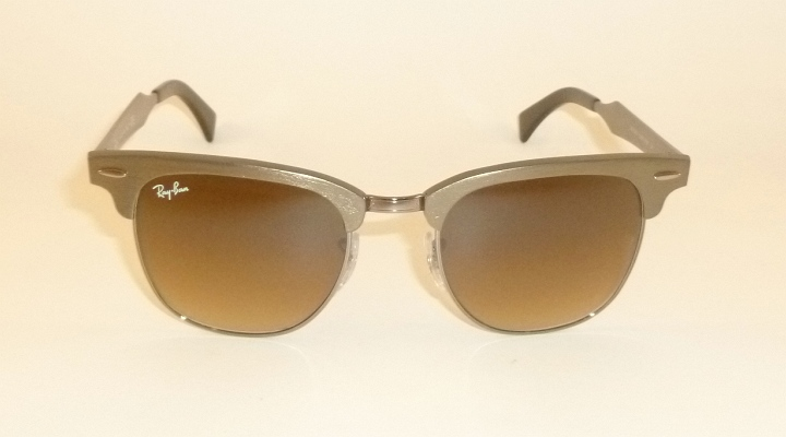 brown ray ban clubmaster  New RAY BAN Sunglasses Clubmaster Aluminum Bronze RB 3507 139/85 ...