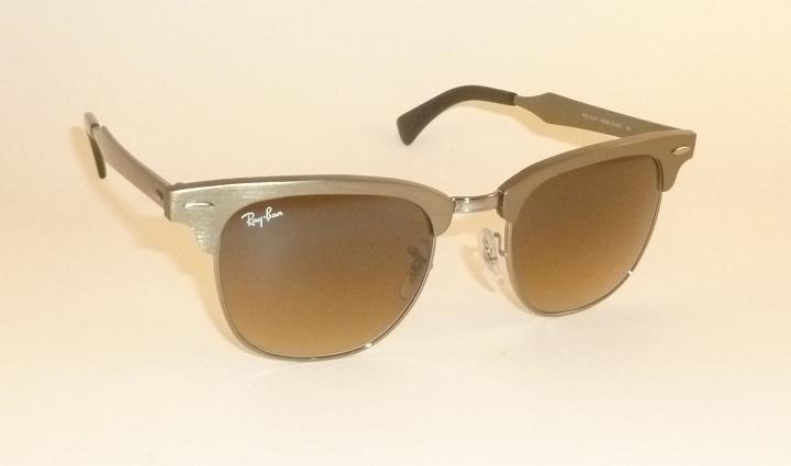 clubmaster aluminum  New RAY BAN Sunglasses Clubmaster Aluminum Bronze RB 3507 139/85 ...