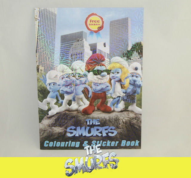 THE-SMURFS-SMURFETTE-PAPA-ACTIVITY-WRITE-COLORING-COLOURING-STICKER-BOOK-SY04a