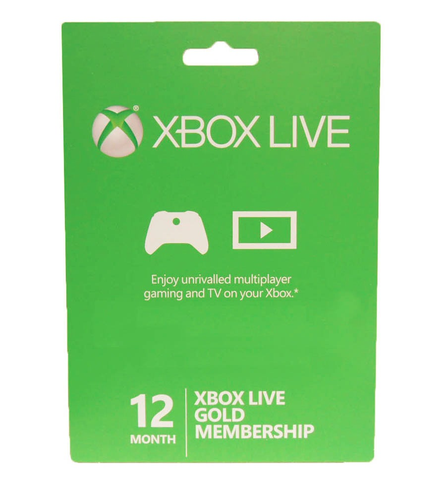 Microsoft Xbox 360 / XBOX ONE LIVE Gold Membership  Subscription Card - 12 months