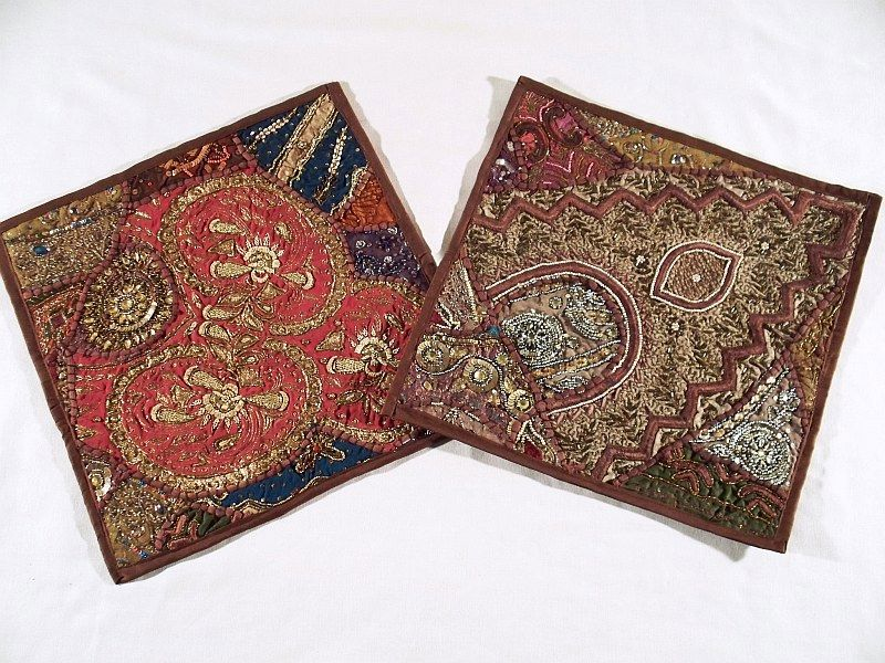 Throw Pillows From India http://www.ebay.com/itm/2-Russet-Indian-Large-Couch-Sofa-Decorative-Pillow-Case-/270683502762