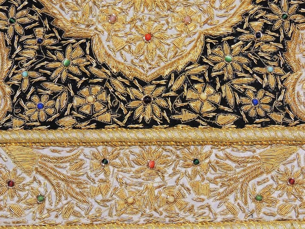 Kashmir Zardozi Jewel Carpet Rug Handmade Traditional