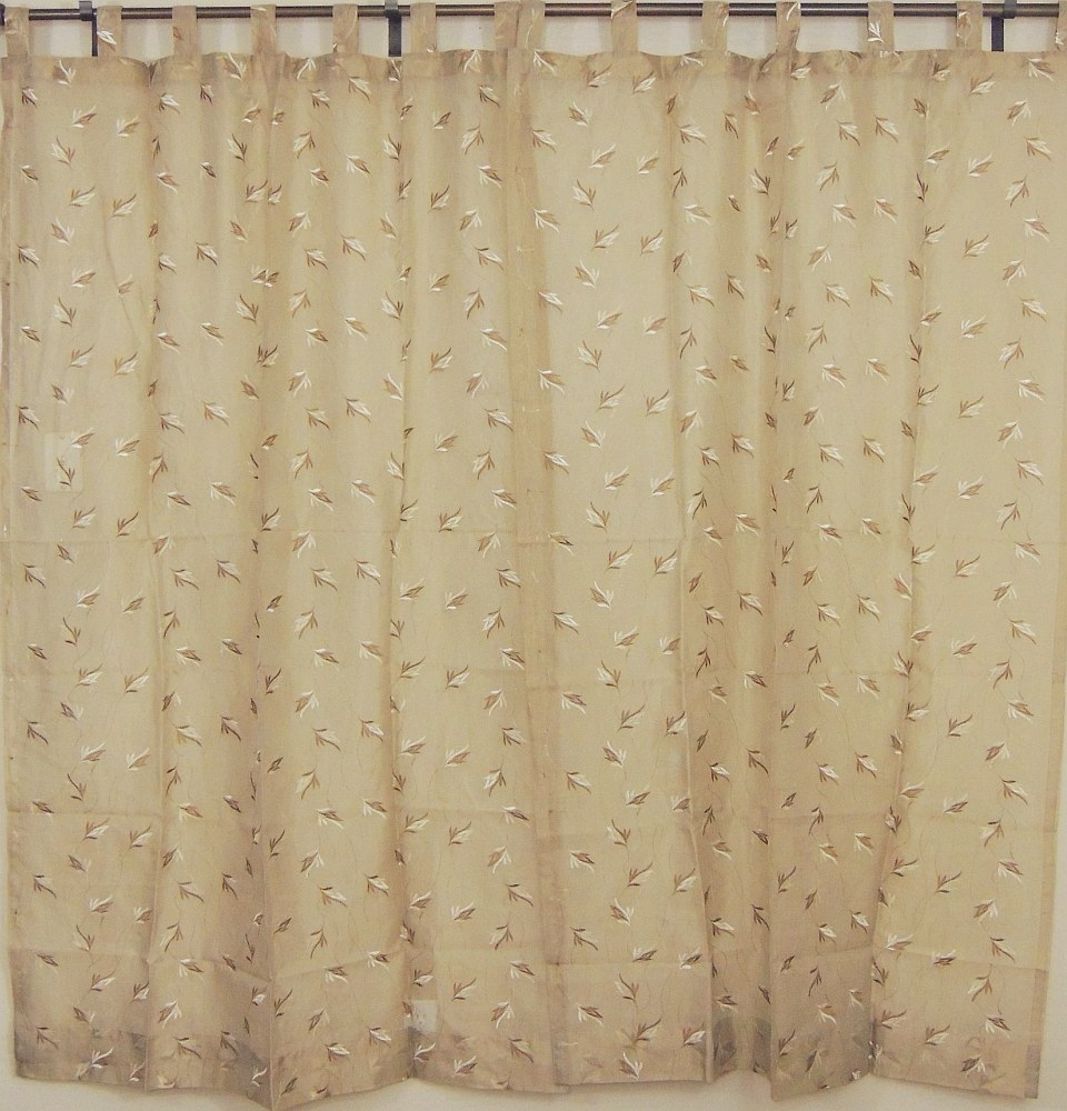 ... Sheer Panels 2 Embroidered Ecru Decorative Window Curtains India Style
