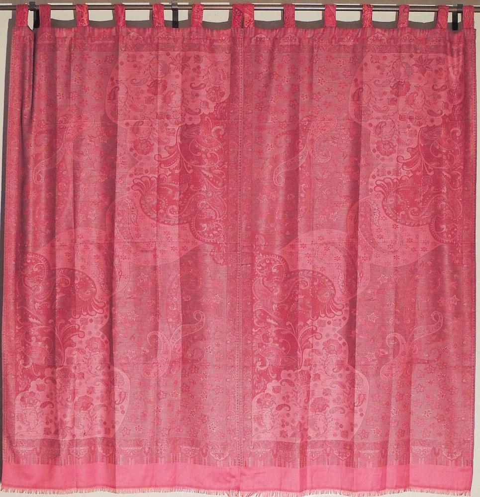 ... Living Room Curtains Jamawar Magenta Beautiful Window Coverings Panels