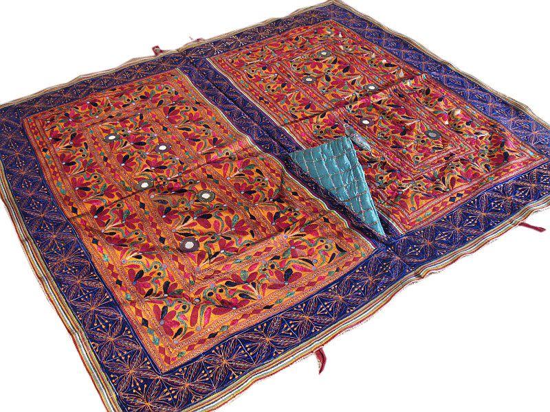 Indian Tapestry Wall Hanging banjara rare mirror kutch indian wall hanging tapestry | ebay