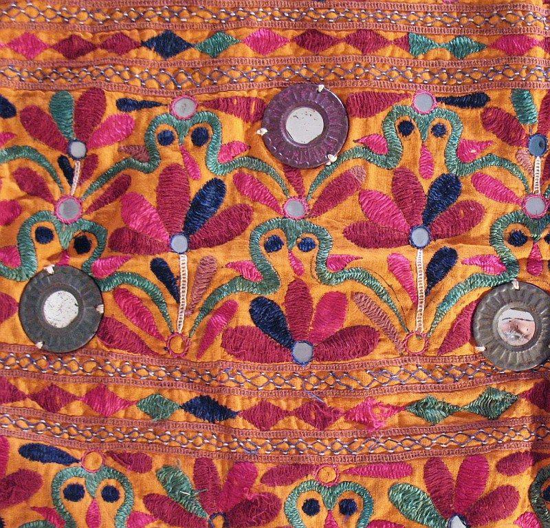 Banjara Rare Mirror Kutch Indian Wall Hanging Tapestry Ebay