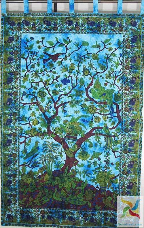 Cotton tapestry indian decor and ethnic fashion - Cloth wall hanging designs ...