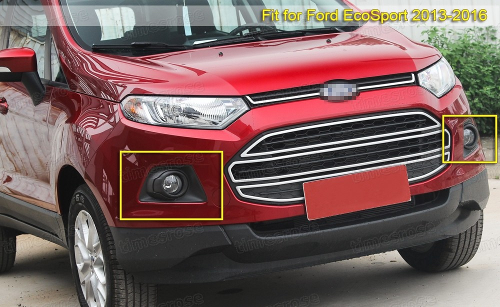 Bumper Fog Lights Driving Lamp  Cover  Switch for Ford EcoSport