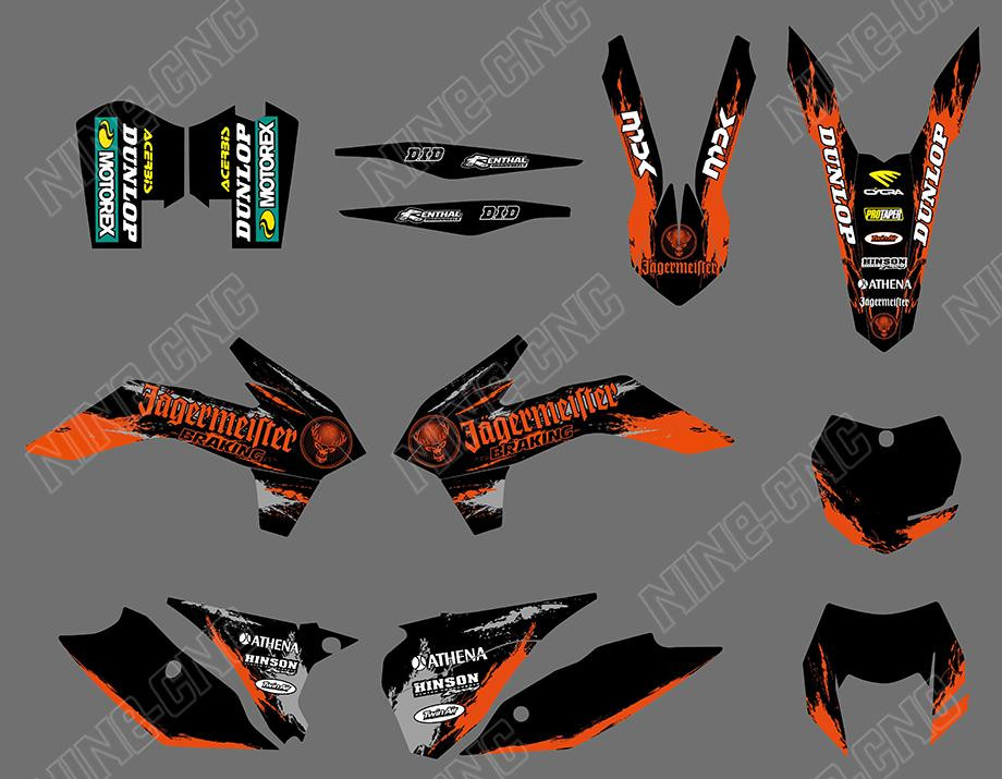 Graphics Background 4 Ktm 125 200 250 300 450 500 Six Days