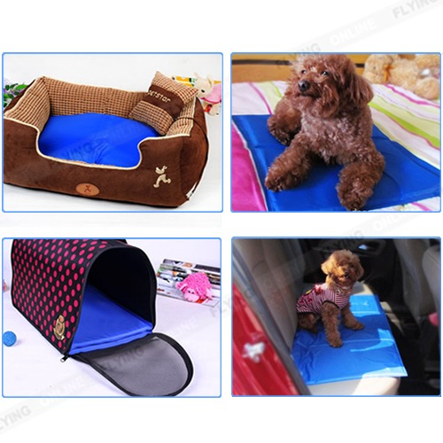 pet dog cat bed non toxic cooling cool water cooling gel. Black Bedroom Furniture Sets. Home Design Ideas