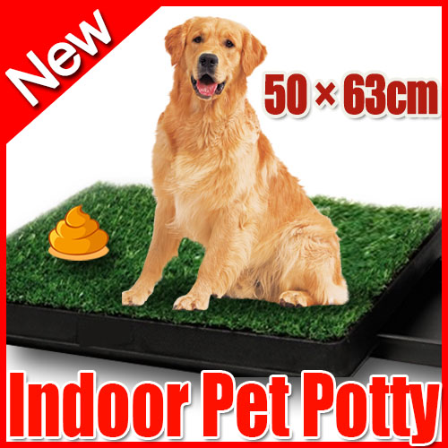 Portable indoor pet potty training grass restroom potty loo toilet with tray ebay for Training dogs to go to the bathroom outside