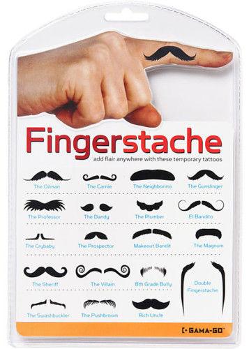 Fingerstache finger mustache tattoo joke disguise party for Finger tattoo cost