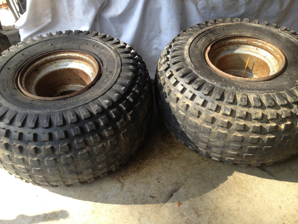ATC HONDA 200S ~ WHEELS RIMS TIRES CARLISLE 22 X 11   8 ~ WITH TUBES