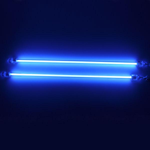 2pcs 6 blue ccfl car auto interior exterior neon lights light tube pc bright ebay. Black Bedroom Furniture Sets. Home Design Ideas