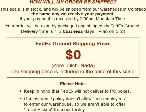 Shipping Price