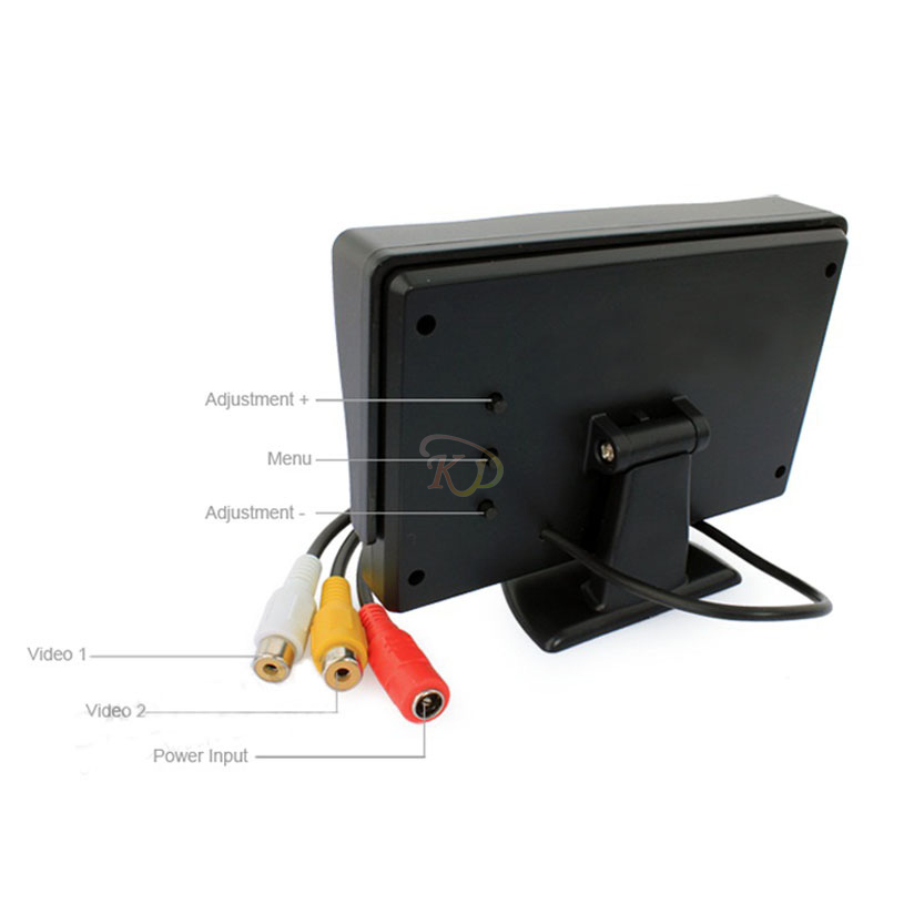 """S5H 4 3"""" TFT LCD Car Rearview Backup Color Monitor Screen Reverse Camera DVD VCR"""