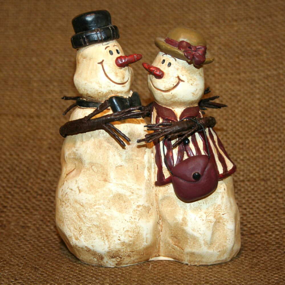 snowman figurine rustic winter decoration collectibles ebay
