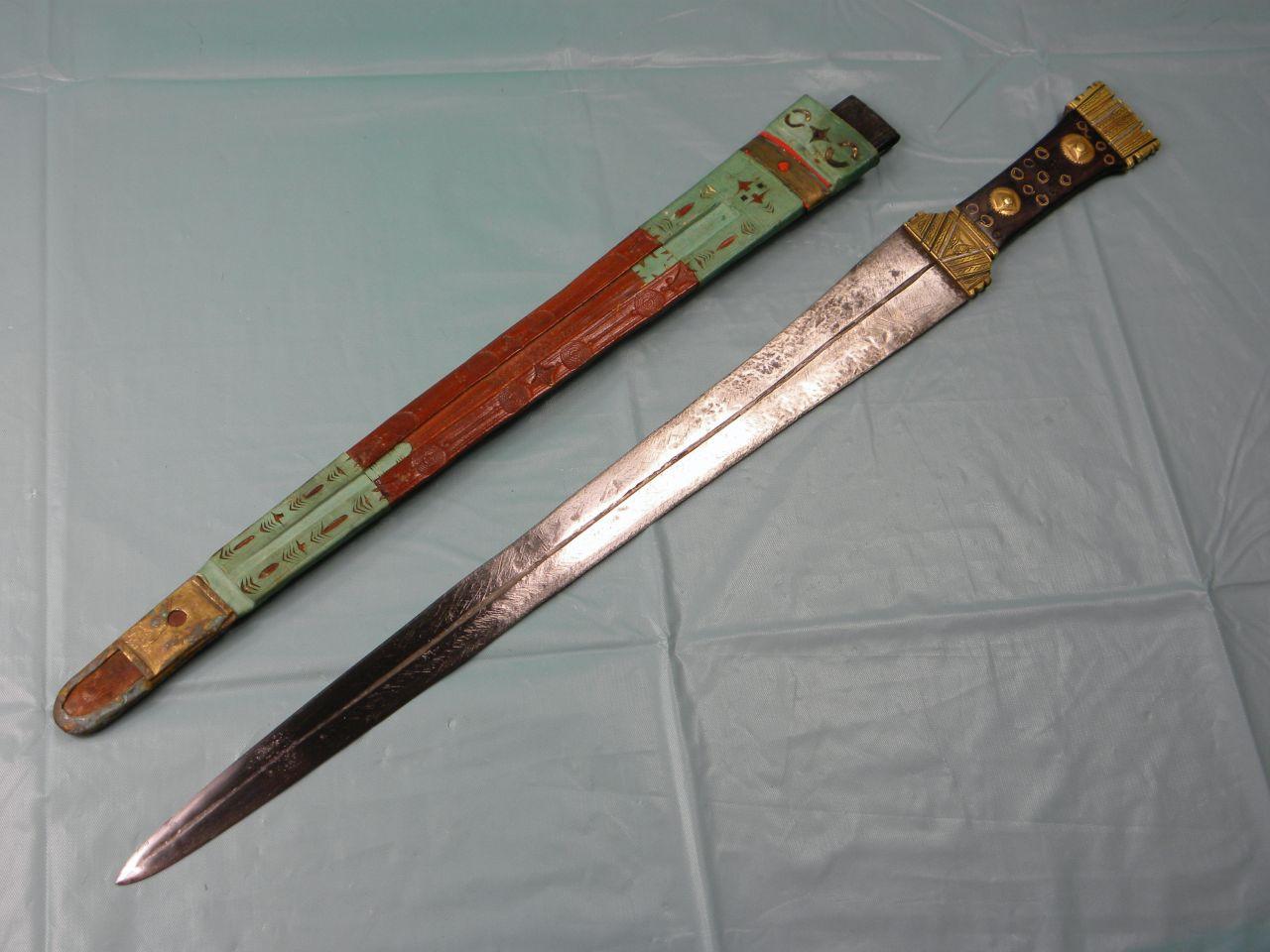 Rare African 19c sword bayonet large knife dagger