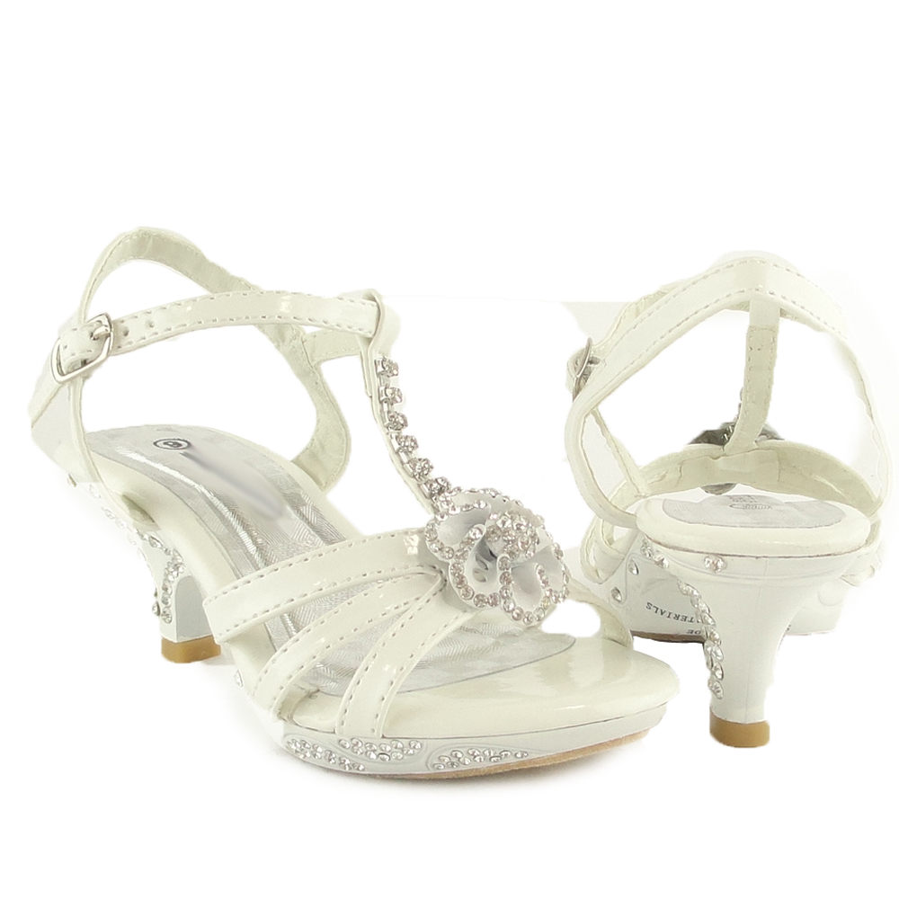 dress white sandals youth pageant crowning