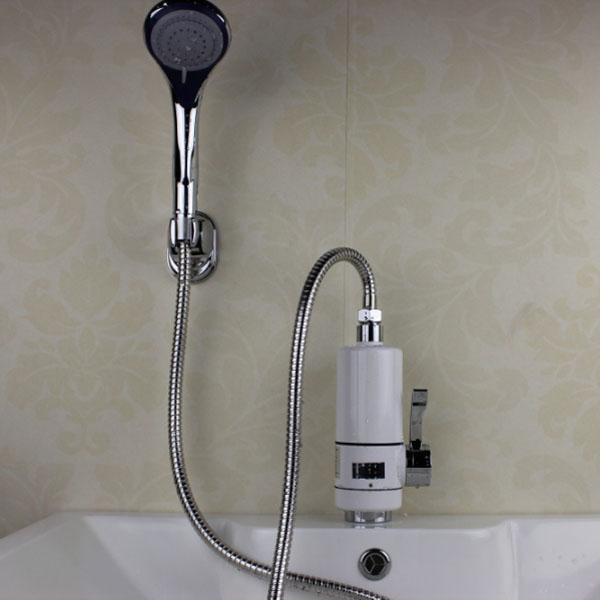 Electric Shower Head : Super instant electric hot water heater tap shower head