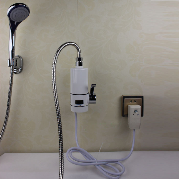 Electric Shower Head : Super instant electric hot water heater mixer tap shower
