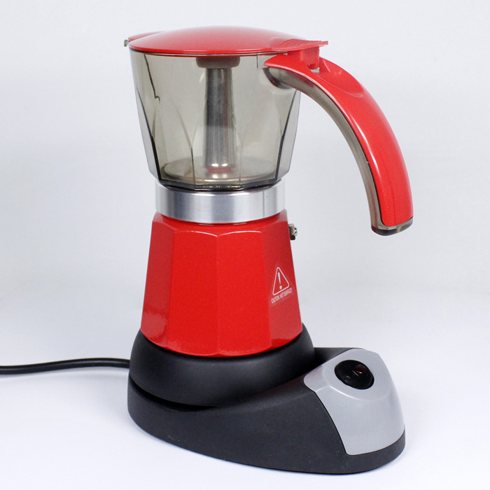 Italian Coffee Maker Percolator : 6 Cup Italian Espresso Electric Espresso Coffee Maker Percolator Moka Pot HJ531