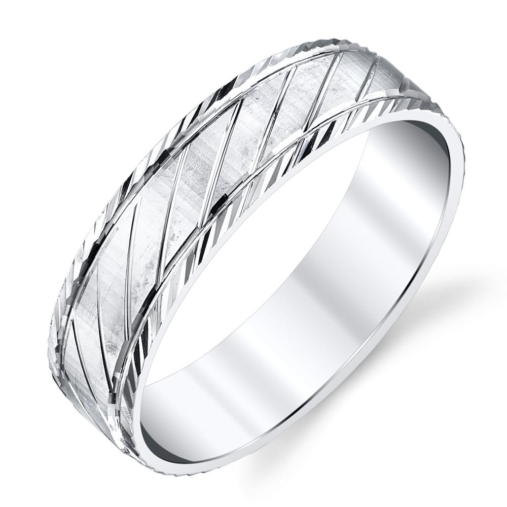 925 Sterling Silver Mens Wedding Band Ring Size 8 9 10 11 12 13 SEVB012
