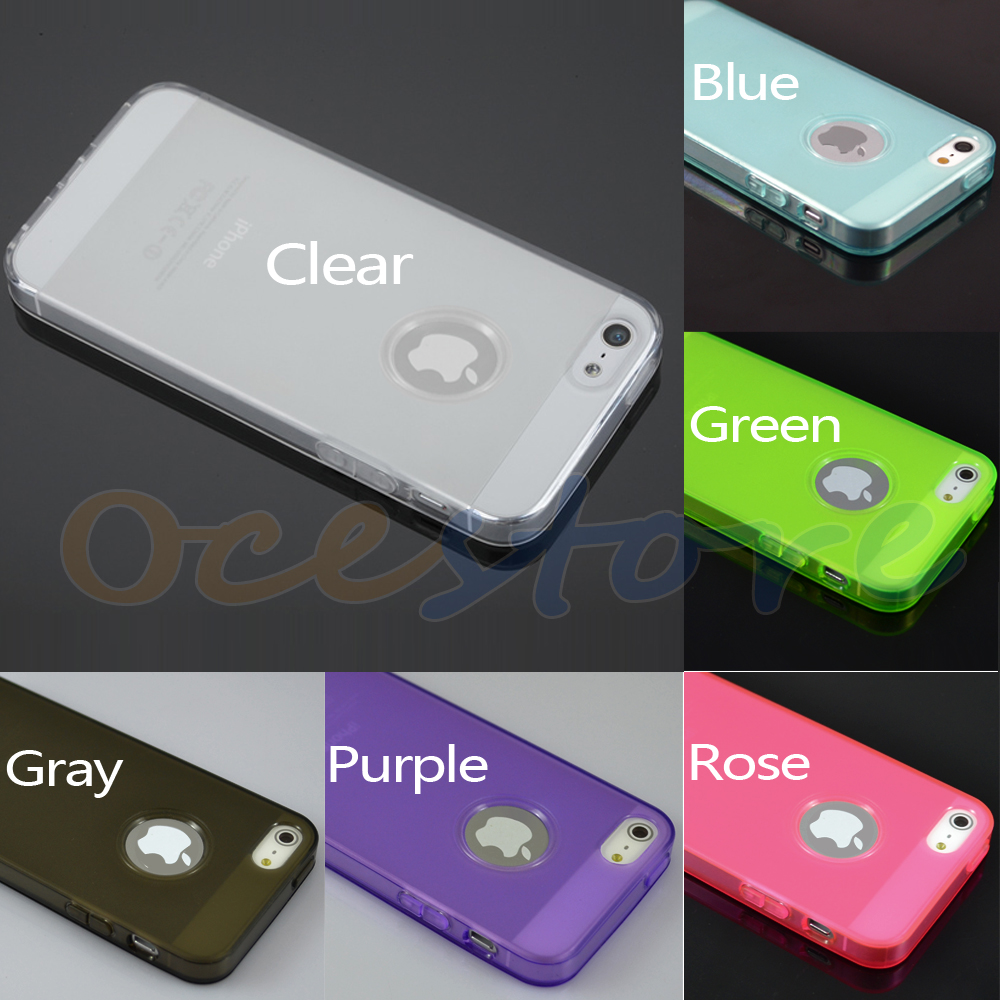 Slim Soft TPU Gel Frosted Matte Case Cover Skin for iPhone 5 5g 6 Colors