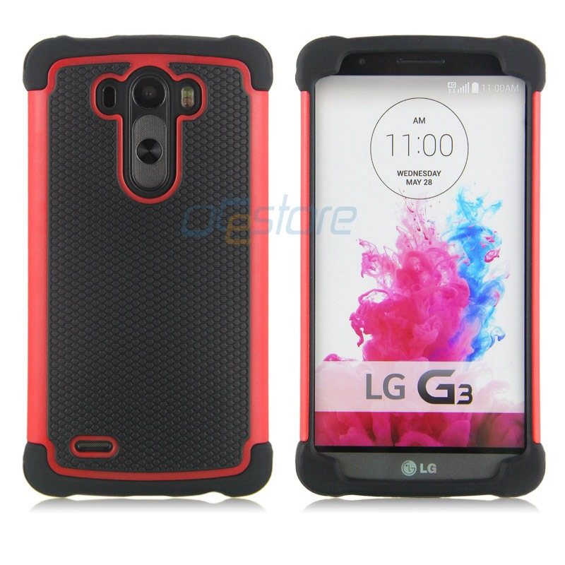 Hybrid Rugged Heavy Duty Impact Hard Armor Case Cover Skin for LG ...