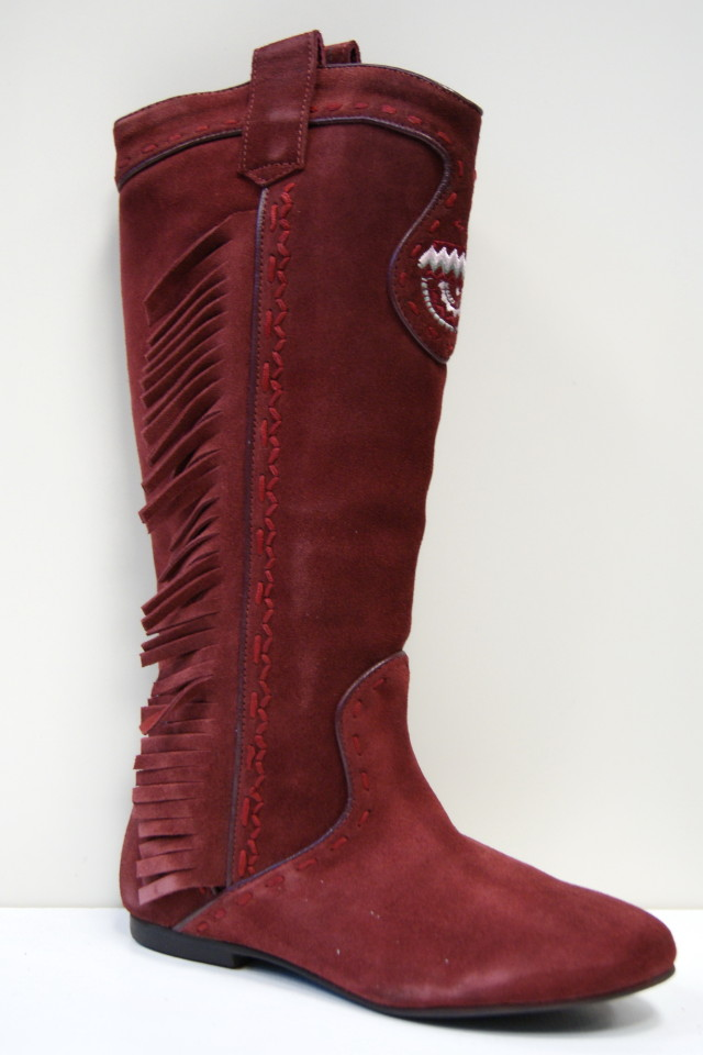 killah burgundy knee high suede boots zetlana more sizes