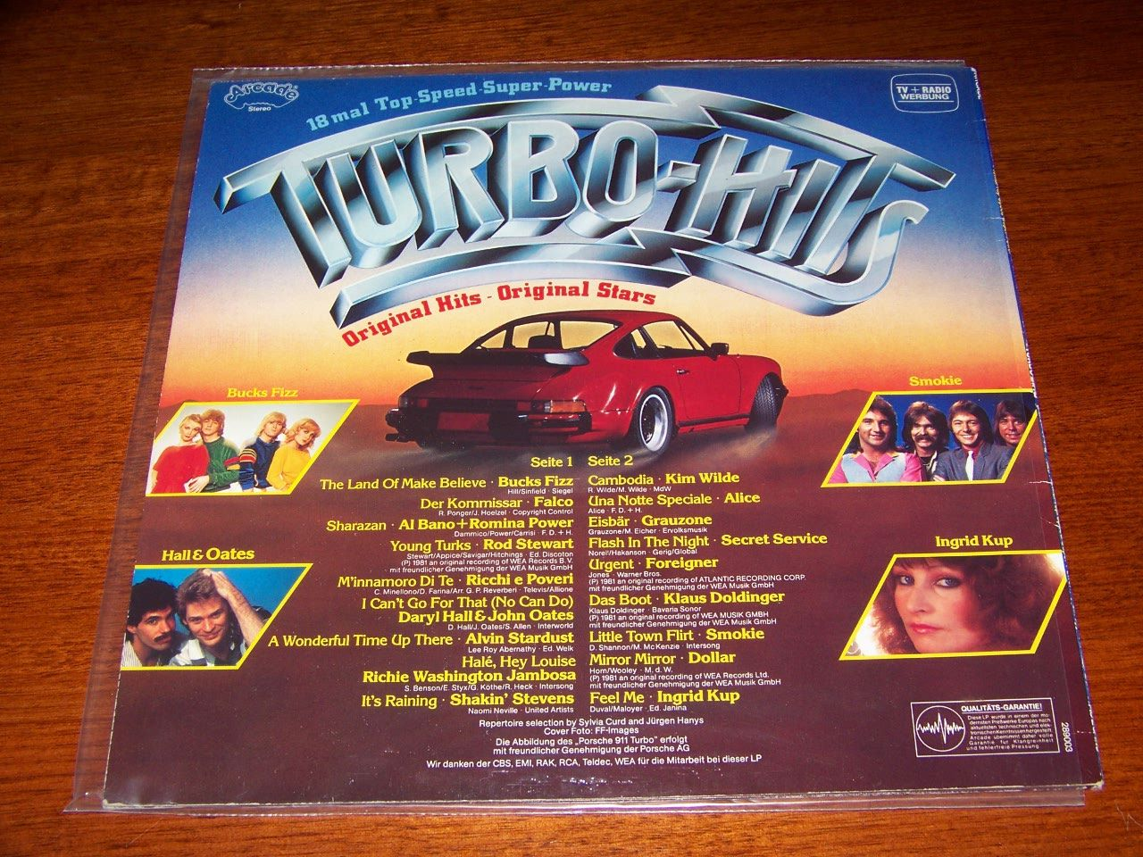 Turbo-Hits-1981-Various-Artists-Pop-Compilation-NEAR-MINT-German-Import