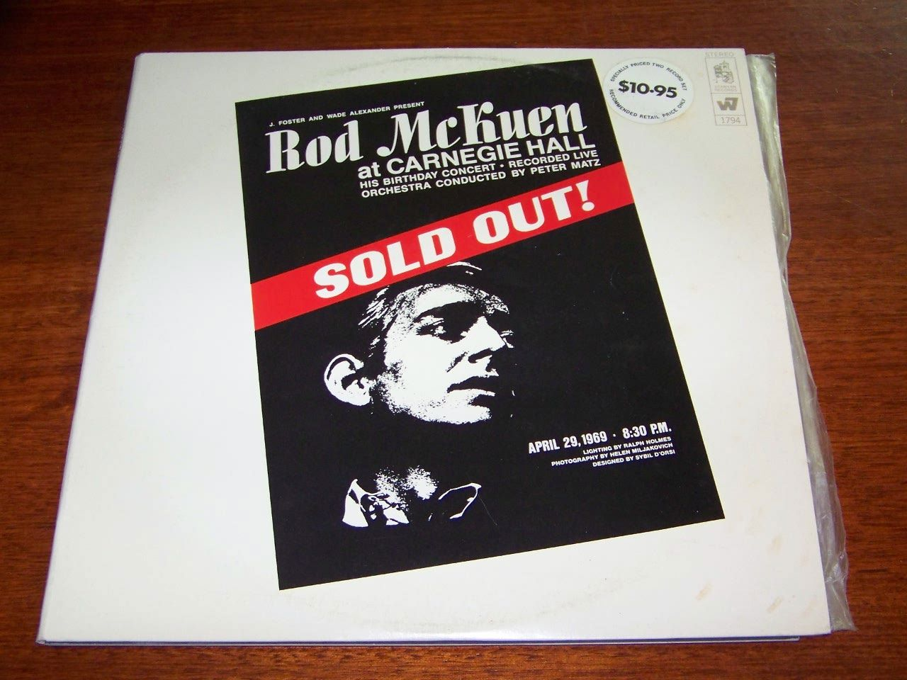 Live-at-Carnegie-Hall-Rod-McKuen-2LP-Set-1969-LP-Excellent-Condition