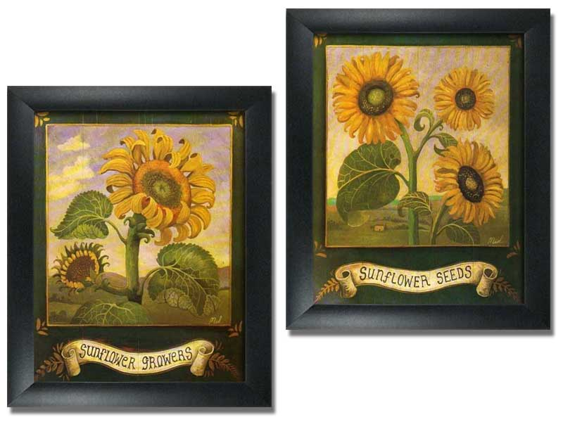 2 Framed Garden Art Prints HomeKitchen Wall Decor