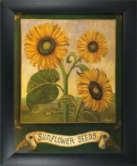 Garden Sunflower Wall Decor : Framed garden art prints home kitchen wall decor