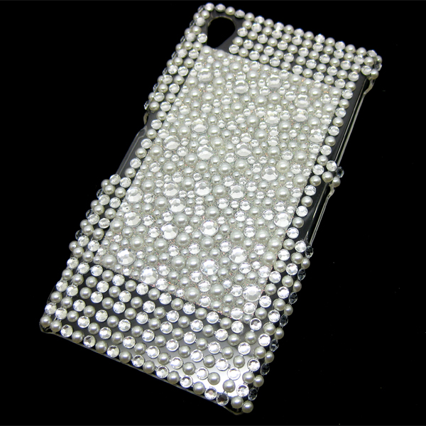 For Sony Xperia Z1 L39H C6903 Bling Diamond Crystal Rhinestone Hard Case Cover