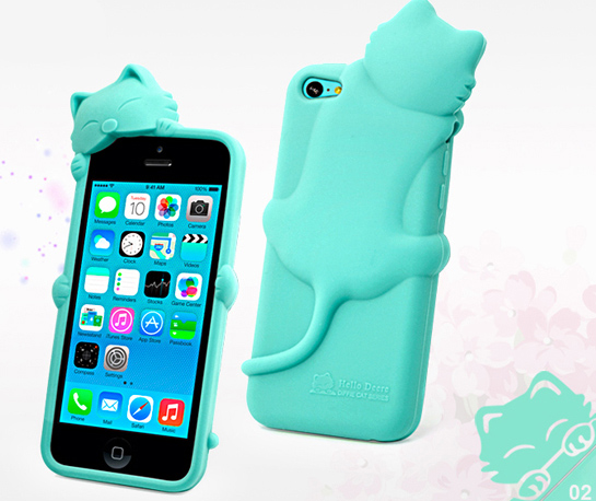 3D Cartoon Smile Cat Soft Silicone Rubber Case Cover For Various Mobile Phones