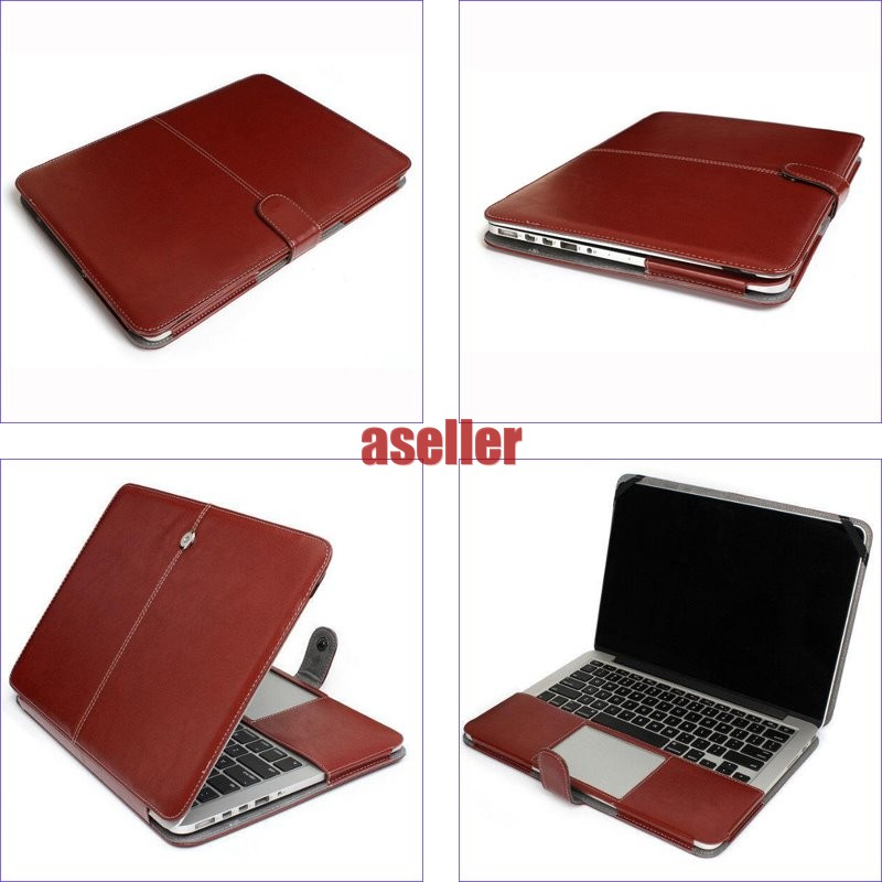 Magnet-Luxury-Leather-Sleeve-Case-Protective-Bag-Pouch-Cover-For-Apple-Macbook