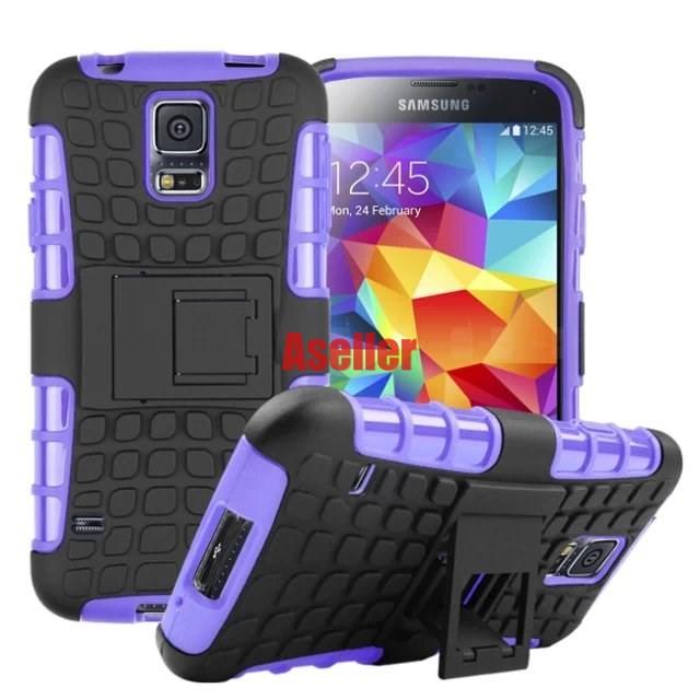 For-Samsung-Galaxy-S5-3D-Shock-Skip-Proof-Grenade-Grip-Rugged-Defender-Hard-Case