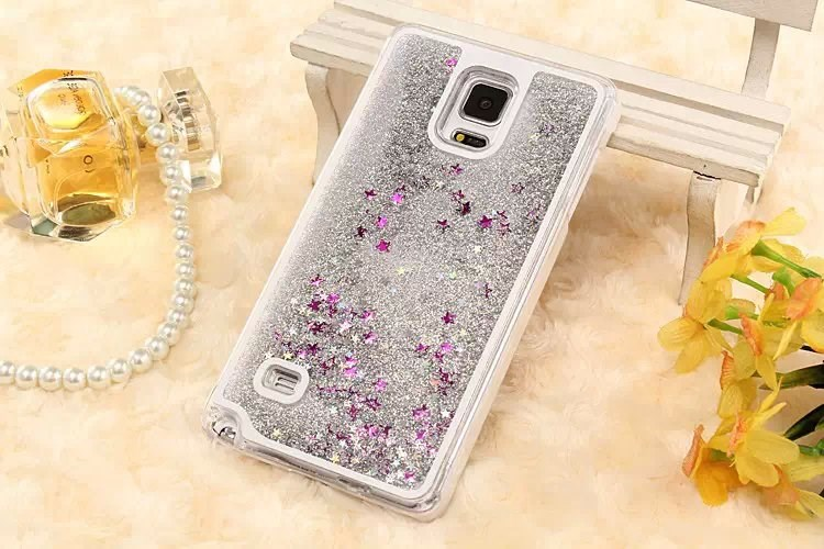 Bling Sparkle Glitter Stars Colorful Dynamic Liquid Quicksand PC Hard Case Cover
