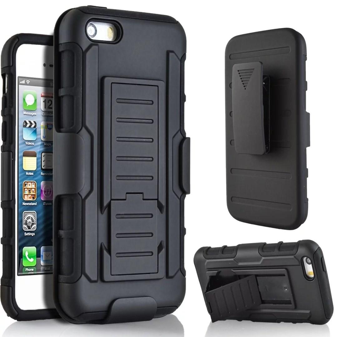 Shockproof-Rugged-Hybrid-Armor-Hard-Box-Belt-Clip-Holster-Case-Skin-for-iPhone5C
