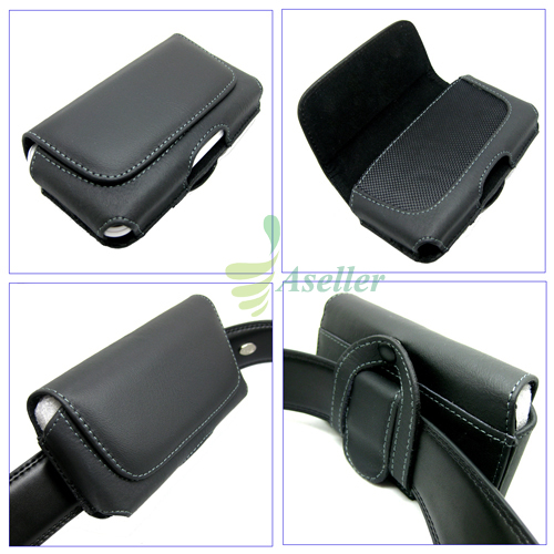Impact-Leather-Belt-Clip-Loop-Holster-Case-Pouch-For-Blackberry-Leap-Z10-Z30