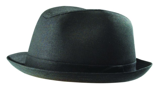 Stetson-Summer-Black-Cotton-Fedora-Stingy-Snap-Brim-Porkpie-Hat-M-L-XL-Zoot-Suit