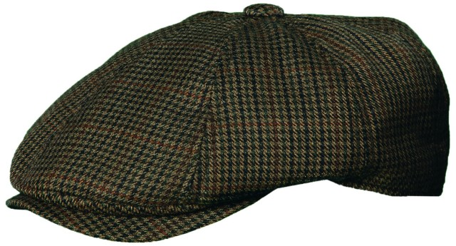 New-Stetson-Mens-Wool-Herringbone-Tweed-Ivy-Hat-Newsboy-Driving-Cap-Brown-M-L-XL