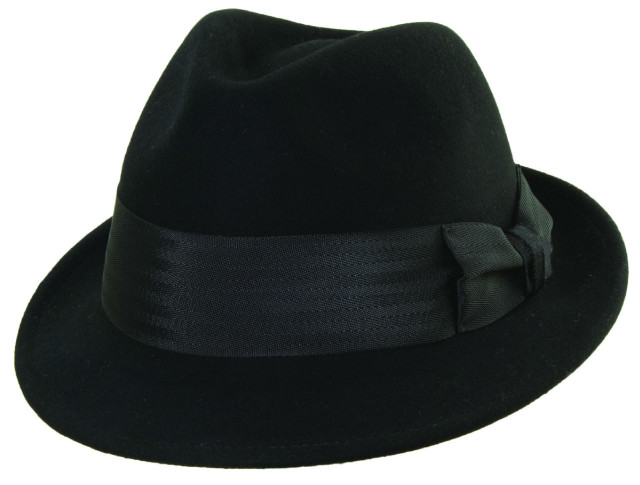 New-Frank-Sinatra-Brand-Mens-Hat-Vintage-Style-Black-Fedora-Wool-Felt-M-L-XL-FS5