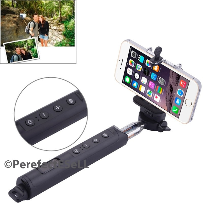 bluetooth shutter extendable handheld selfie stick monopod samsung iphone 7 6. Black Bedroom Furniture Sets. Home Design Ideas