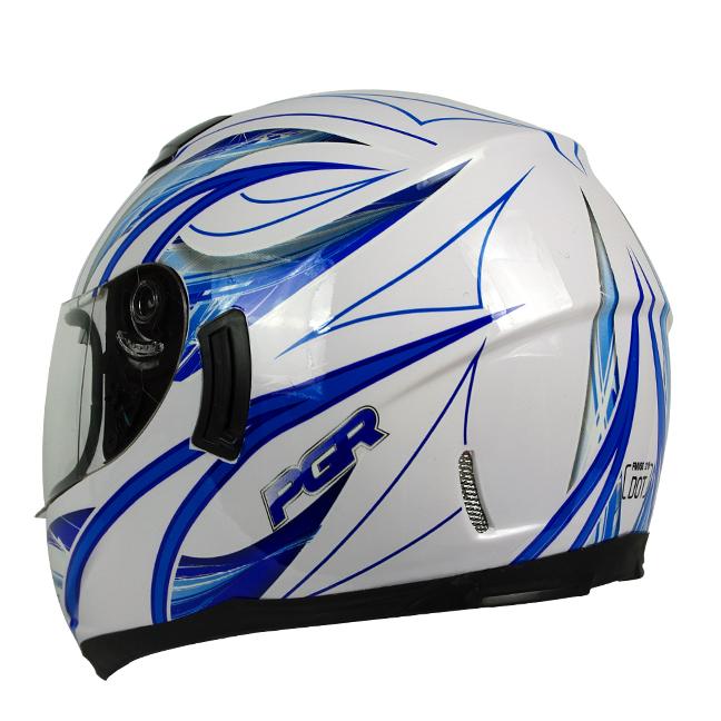 Blue Dual Visor Motorcycle Full Face Helmet DOT APPROVED ~ S