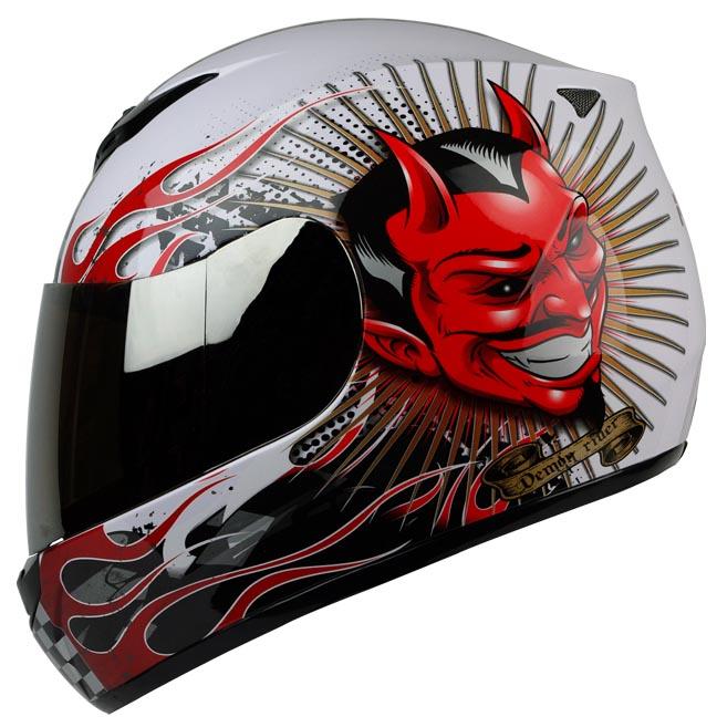 PGR AR01 Demon Rider Laffing Devils Dot Approved Motorcycle Full Face